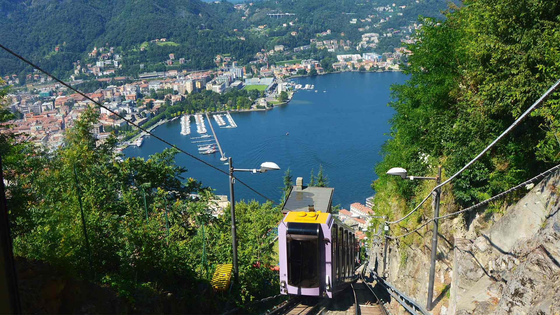 Como Cableway: Go up to Brunate and admire Lake Como from above